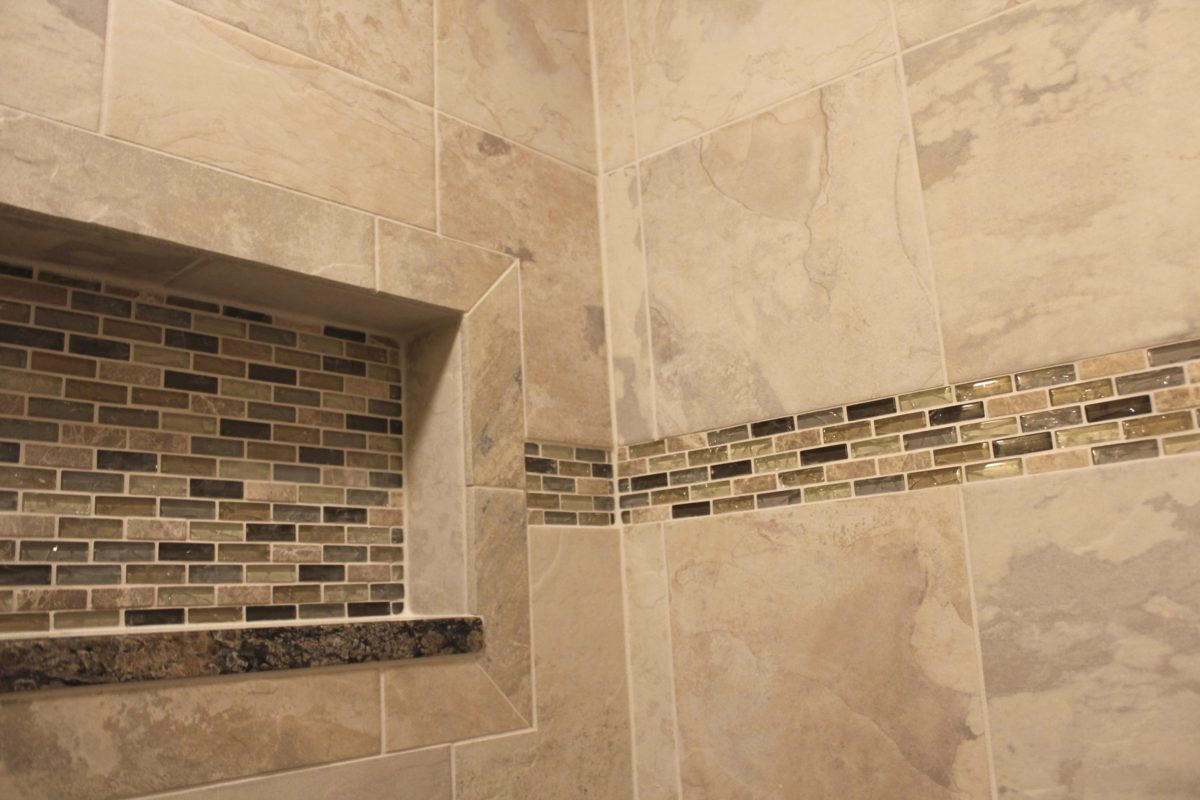 remodeled shower tiles