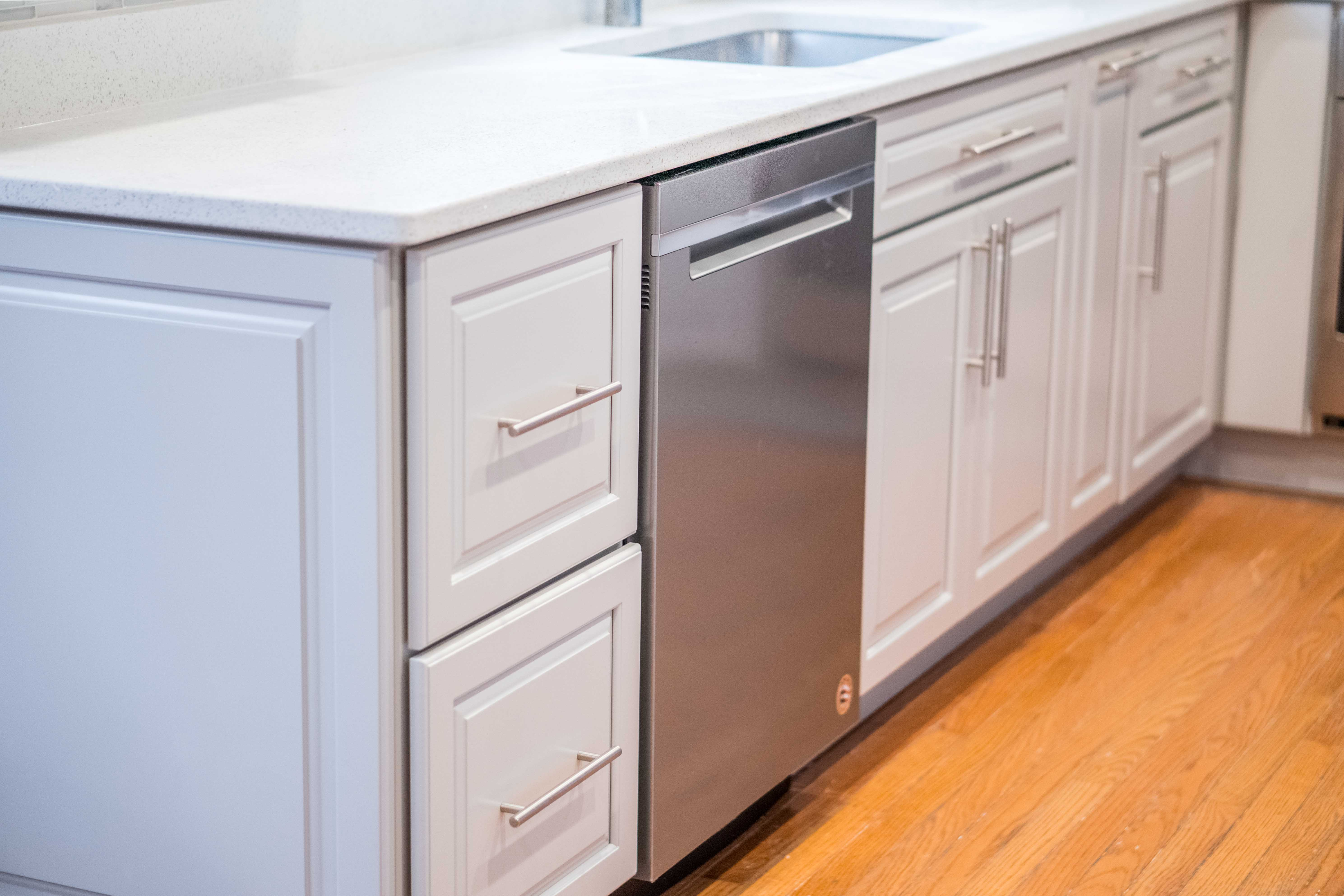 Remodeled kitchen cabinet and counter