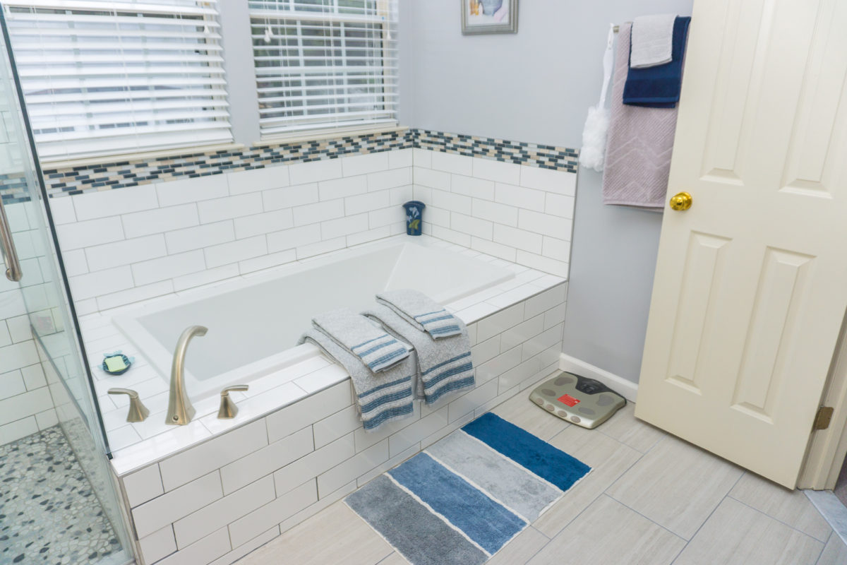 Remodeled bathroom tub