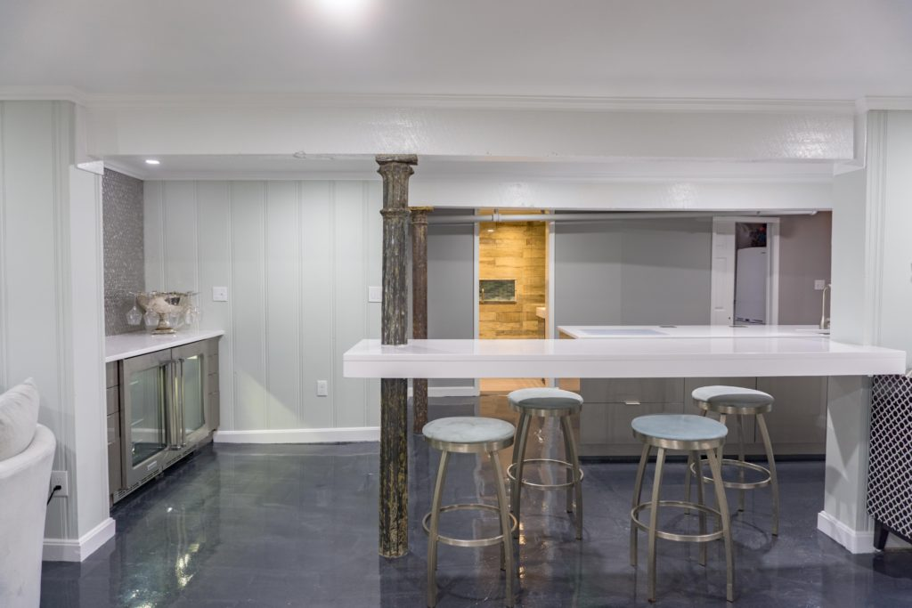 a modern kitchen remodeling project