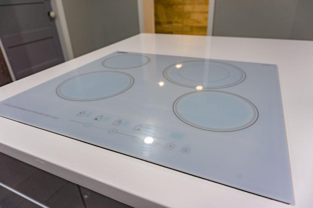 an inset stove top for the major kitchen remodel